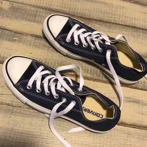 Navy Blue Converse Sneakers